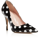 Kate Spade Licorice Polka Dot Pointed Toe High Heel Pumps