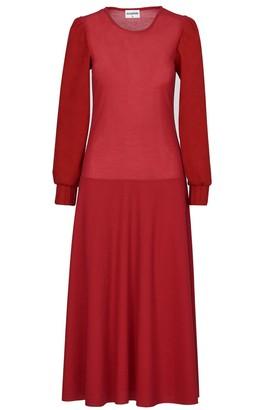 Acephala Red Maxi Dress
