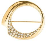 Givenchy Round Crystal Brooch