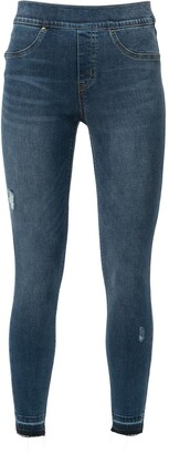 Spanx Distressed-Ankle Skinny Jeans