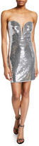 Sho Sequin Strapless Sweetheart Mini Cocktail Dress