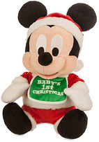 Disney Mickey Mouse Holiday Plush - ''Baby's 1st Christmas'' - Small - 9''