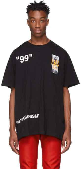 Off-White Off White Black Oversized Summer T-Shirt