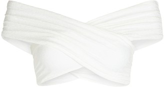 Mara Hoffman Lorina Off-the-Shoulder Bikini Top