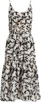 Stella McCartney Running Horses-print cotton-blend midi dress