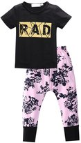 Generic Newborn Kids Baby Boys Girls Outfits T-shirt Tops+Pants Clothes Set