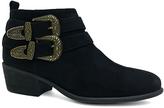 Bamboo Black Buckle Sadie Ankle Boot