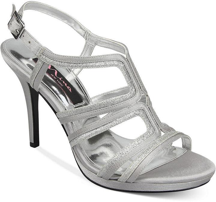 Nina Ruth T-Strap Evening Platform Sandals