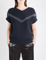 Brunello Cucinelli Monili chain-embellished cashmere jumper