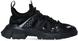 McQ Descender Leather & Fabric Sneakers
