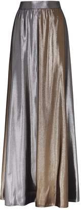 Alberta Ferretti Lame Midi Skirt