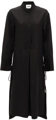 Jil Sander Pintucked Crepe Dress - Womens - Black
