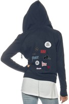 Peace Love World Assorted Patches Zip Hoodie
