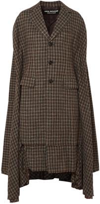 Junya Watanabe Draped Wool-blend Tweed Coat