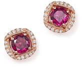 Bloomingdale's Rhodolite Garnet and Diamond Stud Earrings in 14K Rose Gold - 100% Exclusive
