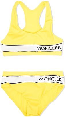 Moncler Enfant Logo Stripe Bikini Set