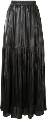 Manning Cartell Australia Pleated Faux Leather Maxi Skirt