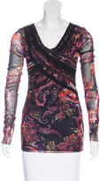 Fuzzi Abstract Print Long Sleeve Top w/ Tags