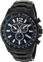 Akribos XXIV Men's AK619BK Conqueror Swiss Chronograph Stainless Steel Bracelet Watch