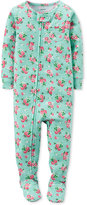 Carter's Baby Girls' 1-Pc. Floral-Print Footed Pajamas
