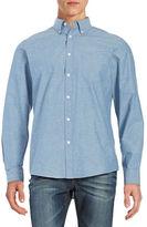 Black Brown 1826 Textured Cotton Laundered Sportshirt