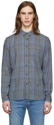 Levis Made and Crafted Blue and Black Check Standard Shirt