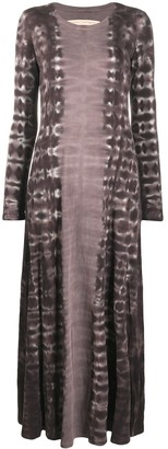 Raquel Allegra Printed Long-Sleeved Maxi Dress
