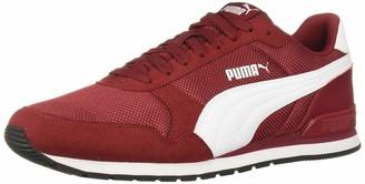 Puma Women's ST Runner V2 Sneaker Rhubarb White Black 12