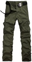 URBANFIND Men's Regular Fit Cargo Pants US Size 28 Army Green Style