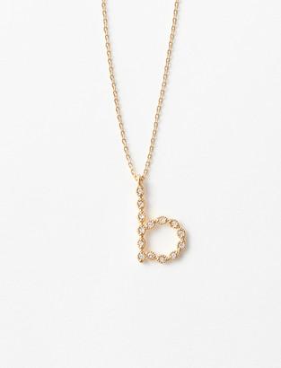 Maje Rhinestone B necklace