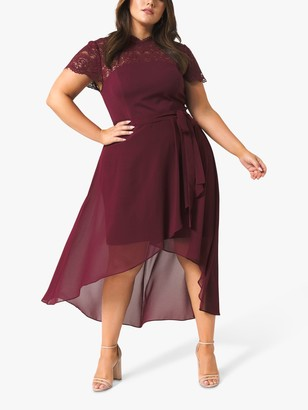 Forever New Curve Lilly Lace Dress, Wine
