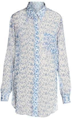 Acne Studios Sophi Chiffon Silk Floral Blouse