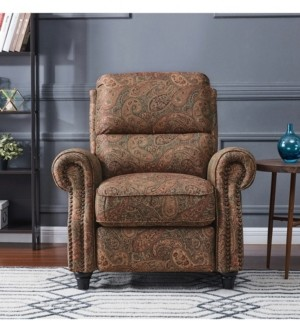 Furniture ProLounger Push Back Recliner Chair in Paisley