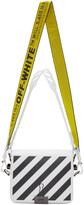 Off-White Off White SSENSE Exclusive White Diag Flap Bag