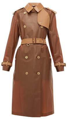 Burberry Leather-trimmed Pu Trench - Womens - Light Brown