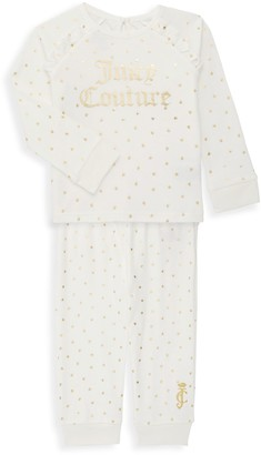 Juicy Couture Baby Girl's 2-Piece Polka Dot Sweatshirt & Joggers Set