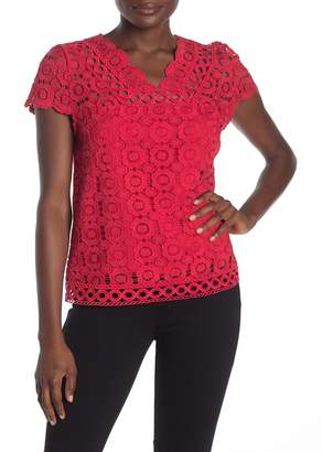 Laundry by Shelli Segal Lace V-Neck Top