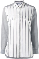 Max Mara striped panel shirt - women - Silk/Cotton - 44