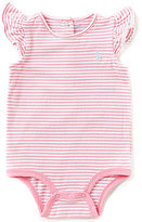 Ralph Lauren Baby Girls 3-12 Months Striped Flutter-Sleeve Bodysuit