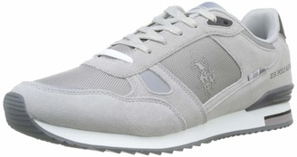 U.S. Polo Assn. Wilde1 Suede Mens Low Trainers Grey (GRIGIO CHIARO 009) 8.5 UK (42 EU)