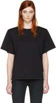 MM6 MAISON MARGIELA Black Shoulder Pad T-shirt