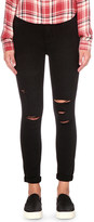 Paige Hoxton cropped skinny high-rise jeans