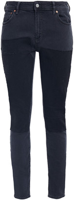 Acne Studios Patchwork Mid-rise Skinny Jeans