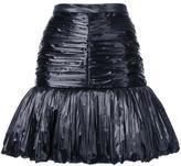 Saint Laurent peplum hem skirt - women - Silk/Polyester/Polyester Taffeta - 36
