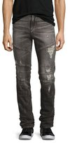 True Religion Rocco Simple Moto Skinny Jeans, Gray