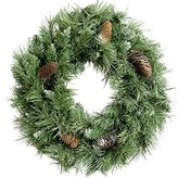 Scandinavian WeRChristmas Blue Spruce Christmas Wreath Decoration with Pine Cones, 50 cm - Large, Green