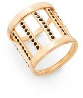 Vita Fede Pandora Crystal Ring/Rose Goldtone