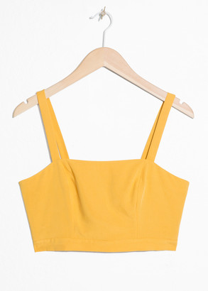 And other stories Square Bustier Tank Top
