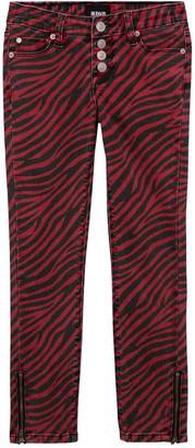 Hudson Zebra Skinny Jeans