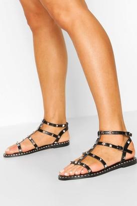 boohoo Stud Gladiator Sandals